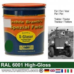 Traktorlack Hochglänzend RAL 6001 Smaragdgrün / Grün 750 ml