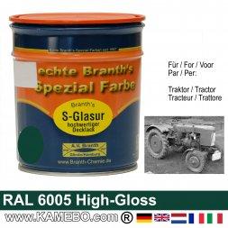 Traktorlack Hochglänzend RAL 6005 Moosgrün / Grün 750 ml