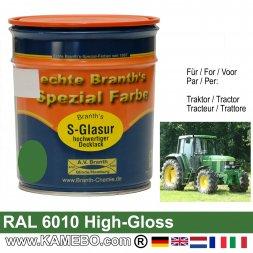 Traktorlack Hochglänzend RAL 6010 / 0610 Naturgrün / Grün 750 ml