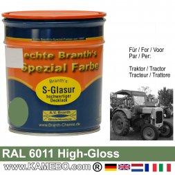 Traktorlack Hochglänzend RAL 6011 Lindgrün / Resedagrün / Grün 750 ml