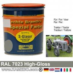 Traktorlack Hochglänzend RAL 7023 Betongrau / Grau 750 ml