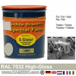 Traktorlack Hochglänzend RAL 7032 Kieselgrau / Grau 750 ml