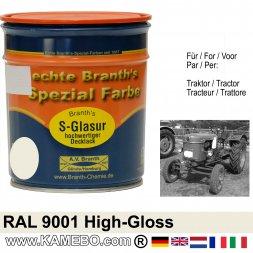 Traktorlack Hochglänzend RAL 9001 Cremeweiß 750 ml