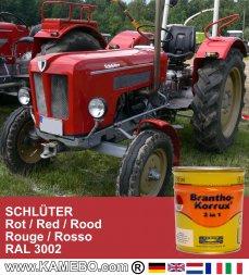 Rostschutzfarbe Traktorlack Schlüter Rot