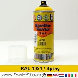 BRANTHO-KORRUX 3in1 Rostschutzlack RAL 1021 Spray Rapsgelb 400 ml