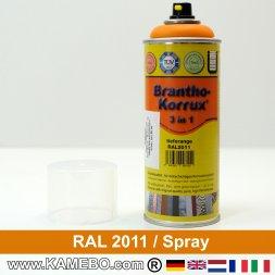 BRANTHO-KORRUX 3in1 Rostschutzlack RAL 2011 Spray Tieforange 400 ml