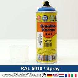 BRANTHO-KORRUX 3in1 Rostschutzlack RAL 5010 Spray Enzianblau 400 ml