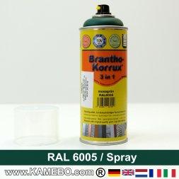BRANTHO-KORRUX 3in1 Rostschutzlack RAL 6005 Spray Moosgrün 400 ml