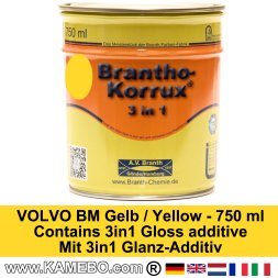 BRANTHO-KORRUX 3in1 Rostschutzlack Volvo BM Gelb 750 ml