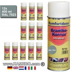 BRANTHO-KORRUX NITROFEST Korrosionsschutzlack RAL 7023 Betongrau Spray 12 Stück
