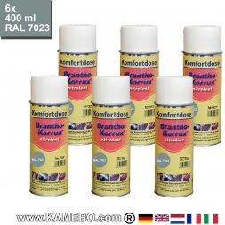 BRANTHO-KORRUX NITROFEST Korrosionsschutzlack RAL 7023 Betongrau Spray 6 Stück