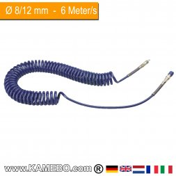 RODCRAFT Spiralschlauch PU 851101 6 Meter