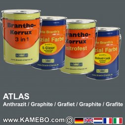 Rostschutzfarbe Atlas Anthrazit Bagger und Baumaschinen