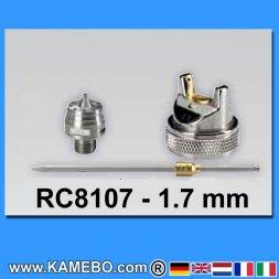 Düsensatz für RODCRAFT Lackierpistole RC8107 1,7 mm