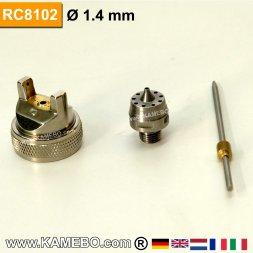 Düsensatz für RODCRAFT Lackierpistole RC8102 1,4 mm