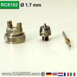 Düsensatz für RODCRAFT Lackierpistole RC8102 1,7 mm