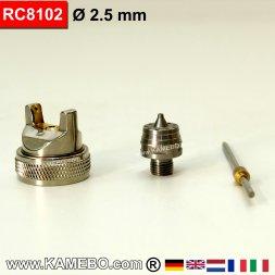 Düsensatz für RODCRAFT Lackierpistole RC8102 2,5 mm
