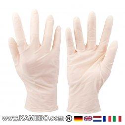 Latex-Einmalhandschuhe 100er-Packung