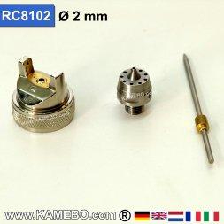 Düsensatz für RODCRAFT Lackierpistole RC8102 2 mm