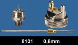 Düsensatz für RODCRAFT Lackierpistole RC8101 0,8 mm