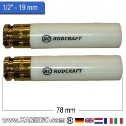 RODCRAFT Stecknüsse R419MD 1/2 78 mm lang 2 Stück