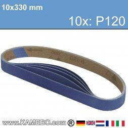 RODCRAFT Schleifbänder 10x330 mm P120 10 Stück