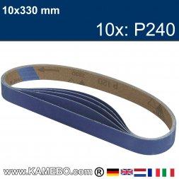 RODCRAFT Schleifbänder 10x330 mm P240 10 Stück