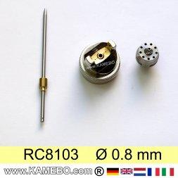 Düsensatz für RODCRAFT Lackierpistole RC8103 0,8 mm