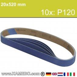 RODCRAFT Schleifbänder 20x520 mm P120 10 Stück