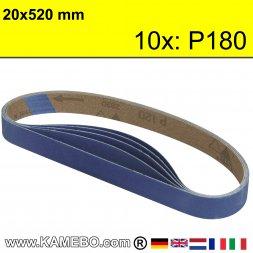RODCRAFT Schleifbänder 20x520 mm P180 10 Stück