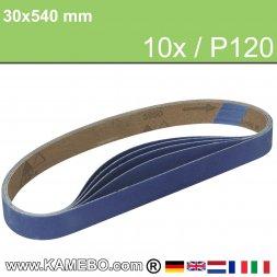 RODCRAFT Schleifbänder 30x540 mm P120 10 Stück
