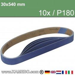 RODCRAFT Schleifbänder 30x540 mm P180 10 Stück