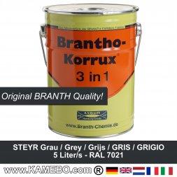 BRANTHO-KORRUX 3in1 Korrosionsschutzlack Steyr Grau / Dunkelgrau 5 Liter