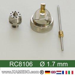 Düsensatz für RODCRAFT Lackierpistole RC8106 1,7 mm
