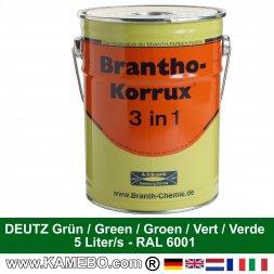 BRANTHO-KORRUX 3in1 Rostschutzfarbe Deutz Grün Dunkelgrün 5 Liter