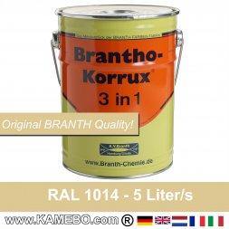 BRANTHO-KORRUX 3in1 Rostschutzfarbe RAL 1014 Elfenbein 5 Liter