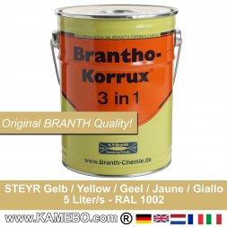 BRANTHO-KORRUX 3in1 Anti-Rust Coating Steyr yellow 5 Litres