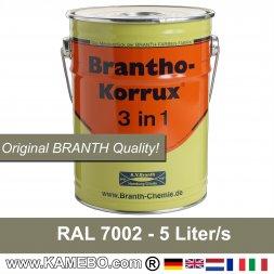Rostschutzfarbe / Tarnfarbe RAL 7002 Olivgrau 5 Liter