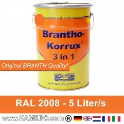 BRANTHO-KORRUX 3in1 Rostschutzfarbe RAL 2008 Hellrotorange 5 Liter