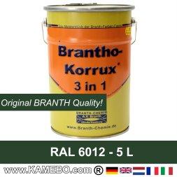 Rostschutzfarbe / Tarnfarbe RAL 6012 Schwarzgrün 5 Liter
