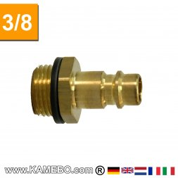 Raccord à air comprimé Euro Plug nipple AM029 3/8