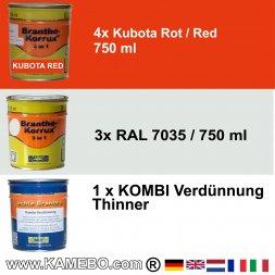 BRANTHO-KORRUX 3in1 Kubota Red Construction Machinery Kit 1