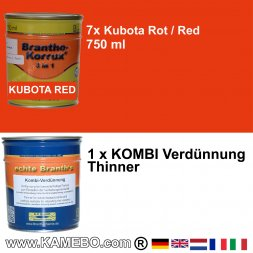 BRANTHO-KORRUX 3in1 Kubota Rot Baumaschinen Kit 2