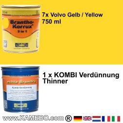 BRANTHO-KORRUX 3in1 Volvo Gelb Baumaschinen Kit 2