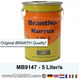 BRANTHO-KORRUX 3in1 Anti Roest LakverfMercedes-Benz Chassis MB9147 Arctic-wit 5 Liters