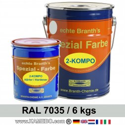 BRANTHO-KORRUX 2-KOMPO RAL 2comp. metal protective coating RAL 7035 Light grey 6 kg