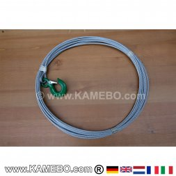 Wire Rope with Hook for Winches 8 mm 8 Meters