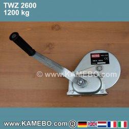Treuil à main / Treuil manuel TWZ-2600 1200 kg