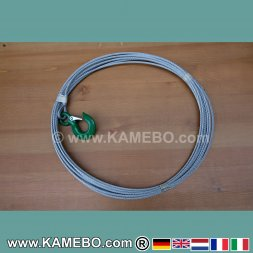 Wire Rope with Hook for Winches 5 mm 15 Meters