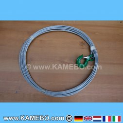 Wire Rope with Hook for Winches 4 mm 20 Meters